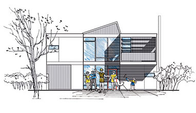 elevation drawing of the Greenbelt 2