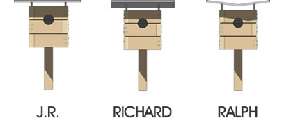 Modern Birdhouses™ line drawings