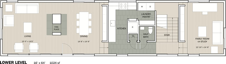 Stitch House, lower floor plan