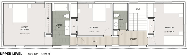 Stitch House, upper floor plan