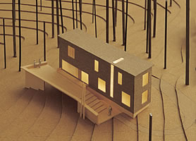 architect's model of the Stitch House
